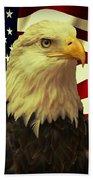 Proud American Beach Towel