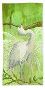 Proud Egret Beach Towel