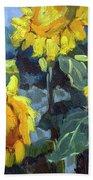 Provence Sunflower Trio Beach Towel