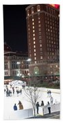 Providence On A Cold December Evening Beach Towel