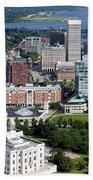 Providence Rhode Island Downtown Skyline Aerial Beach Towel