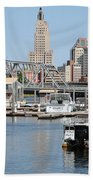 Providence River And Point St Bridge Beach Towel