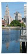 Providence Skyline And Riverfront Beach Towel