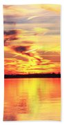 Provincetown Harbor Sunset Beach Towel