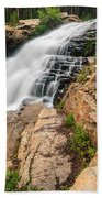Provo River Falls 3 Beach Towel