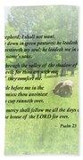 Psalm 23 The Lord Is My Shepherd Beach Towel by Susan Savad