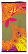 Psychedelic Butterfly Explosion Fractal 61 Beach Towel