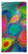 Psychedelic Colors Beach Towel