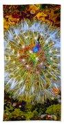 Psychedelic Dandelion Beach Towel