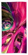Psychedelic Fun House Abstract Beach Towel