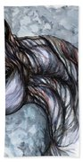 Psychedelic Grey And Blue Beach Towel