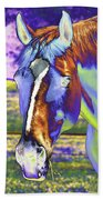 Psychedelic Horse Beach Towel