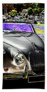 Psychedelic Jaguar Xk120 Classic Car 1 Beach Towel