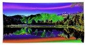 Psychedelic Lake Matheson Ner Zealand 3 Beach Towel