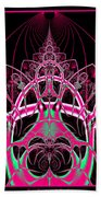 Psychedelic Rollercoaster Tunnel Fractal 65 Beach Towel