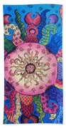 Psychedelic Squid 2 Beach Towel