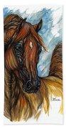 Psychodelic Chestnut Horse Original Painting 2 Beach Towel