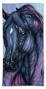 Psychodelic Deep Blue Beach Towel