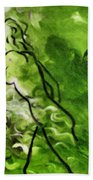 Psychological State In Green Beach Towel