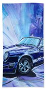 Psycodelic Porsche 911 Carrera. Beach Towel
