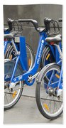 Public Shared Bicycles In Melbourne Australia Beach Towel