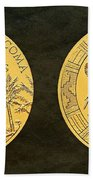Pueblo Of Acoma Tribe Code Talkers Bronze Medal Art Beach Towel