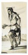 Pueblo Zuni Buffalo Dance, 1850s Beach Towel