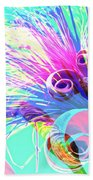 Puffy Bloom W Bee Abstract Beach Towel
