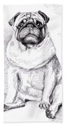 Pug Anton Beach Towel