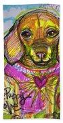 Puggle Puppy Love Beach Towel