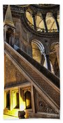 Pulpit In The Aya Sofia Museum In Istanbul  Beach Towel