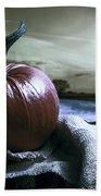 Pumpkin At Sunset Beach Towel