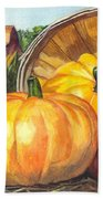 Pumpkin Pickin Beach Towel by Carol Wisniewski