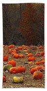 Pumpkin Season Beach Towel