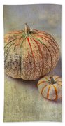 Pumpkin Textures Beach Towel