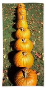 Pumpkins In A Row Beach Towel
