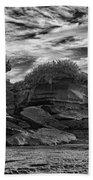 Punakaiki Truman Track #2 - Black And White Beach Towel