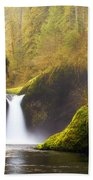 Punchbowl Pano Beach Towel by Darren  White