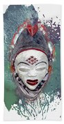 Punu Mask - Maiden Spirit Mukudji Beach Towel