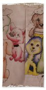 Pups  Beach Towel
