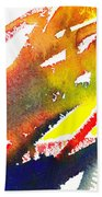 Pure Color Inspiration Abstract Painting Linea Forces Beach Towel
