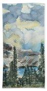 Pure North - Bow Lake Alberta Beach Towel