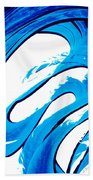 Pure Water 315 - Blue Abstract Art By Sharon Cummings Beach Towel
