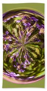 Purpble Wildflower Orb Beach Towel