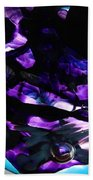 Purple Abstract Beach Towel
