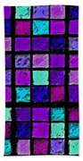 Purple And Aqua Sudoku Beach Towel