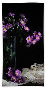 Purple And Lace Beach Towel