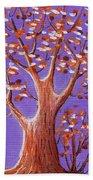 Purple And Orange Beach Towel by Anastasiya Malakhova