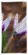 Purple And White Crocus Beach Towel