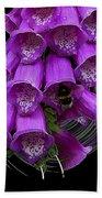 Purple Bells Beach Towel